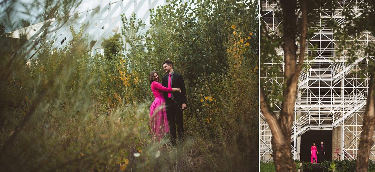creative abandoned building wedding session elopement 002 - Abandoned Building Wedding Session