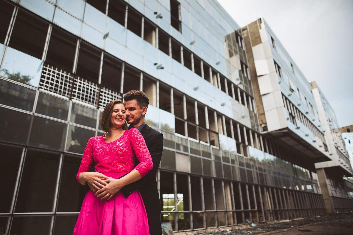 creative abandoned building wedding session elopement 038 - Abandoned Building Wedding Session