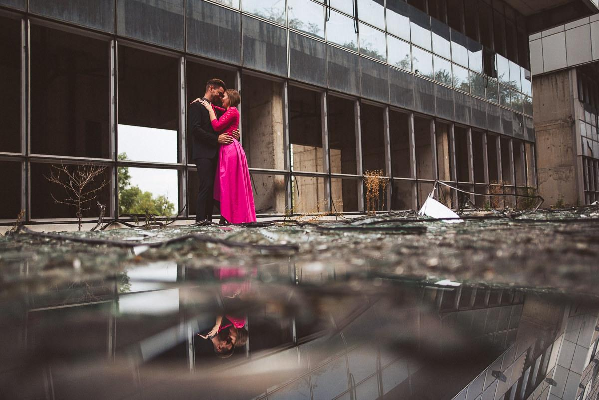 creative abandoned building wedding session elopement 039 - Abandoned Building Wedding Session