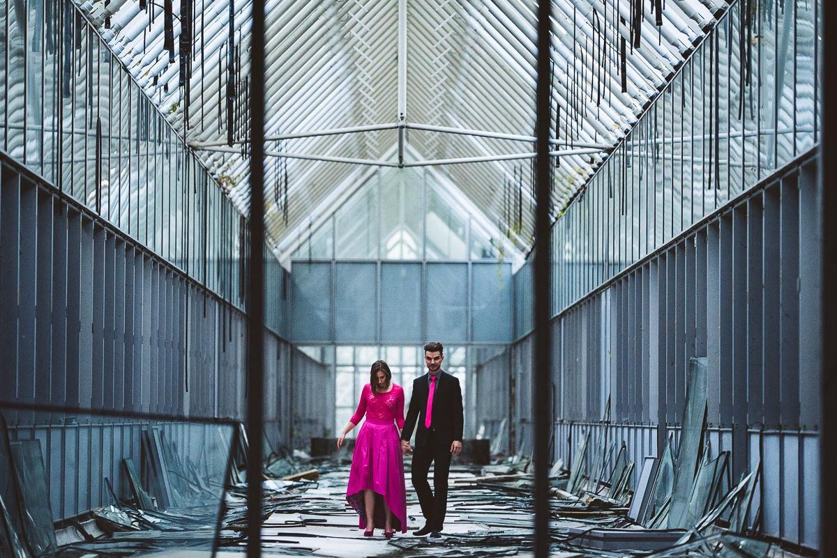creative abandoned building wedding session elopement 042 - Abandoned Building Wedding Session